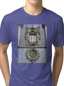 Portugese Late Gothic Style Facade Tri-blend T-Shirt