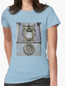Portugese Late Gothic Style Facade Womens Fitted T-Shirt