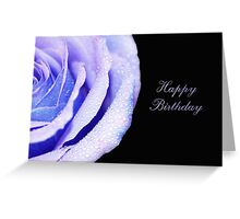 Bold Rose Violet - Happy Birthday Greeting Card