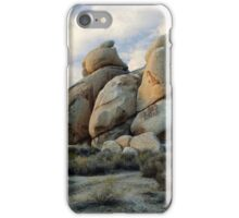 """Joshua Tree Rock Formations At Dusk"" iPhone Case/Skin"