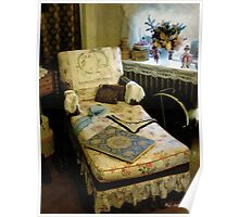 Mother's Chintz Chaise in the Corner Poster