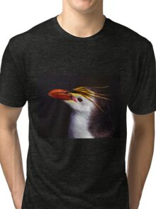 Royal Penguin Portrait Tri-blend T-Shirt