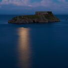 St. Catherine's Island, Tenby, at Dusk by Greg Webb