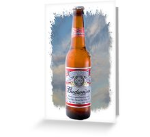 Budweiser Poster Greeting Card