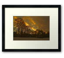 Sunsetting at Elvaston Castle Grounds Framed Print