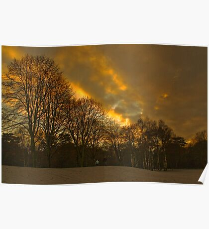 Sunsetting at Elvaston Castle Grounds Poster