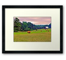 Late Summer Storms Brewing Framed Print