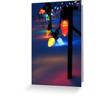 Team Colored Lights Greeting Card