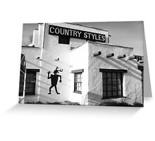 """""""Country Styles"""" Greeting Card"""
