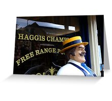 Haggis Champion Greeting Card