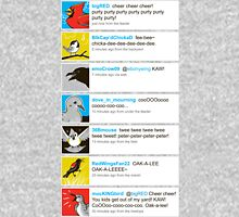 Birds' tweets Unisex T-Shirt