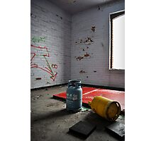 Abandoned- gas canisters Photographic Print