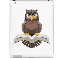 Vector, Brown Owl fly with the book iPad Case/Skin