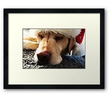 Snoozy Claus Framed Print