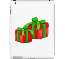 A red gift with a  green ribbon and a bow iPad Case/Skin