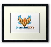 Diamond XXV Tier Framed Print