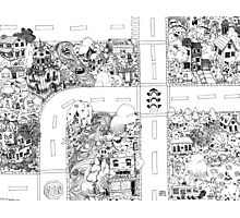 Doodle Map A Photographic Print