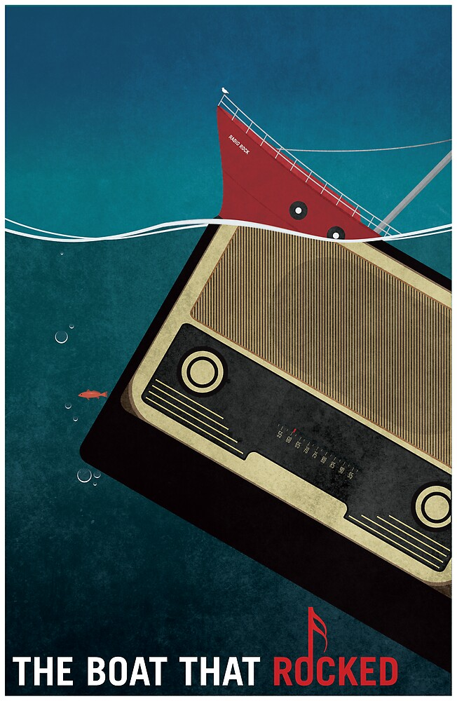The Boat That Rocked Movie Poster by Flef