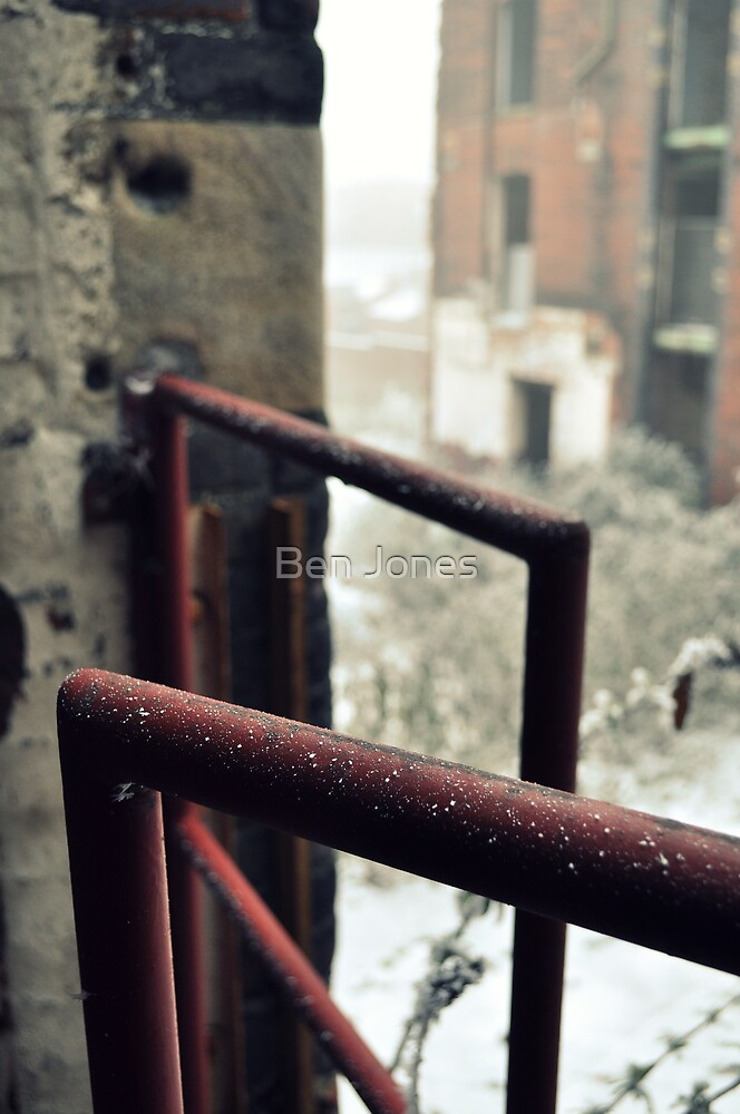 Frosted railing by Ben Jones