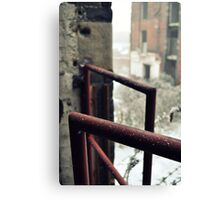 Frosted railing Canvas Print