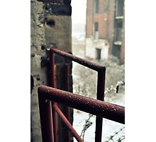 Frosted railing Photographic Print