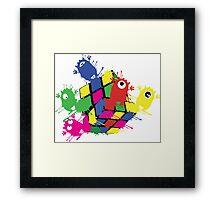 Cube monsters Framed Print