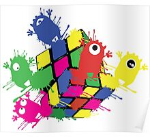 Cube monsters Poster