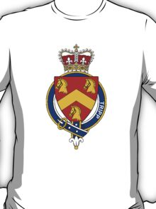 Coat of arms (family crest) for last-name or surname Tripp (England) . Heraldry banner for your name. T-Shirt