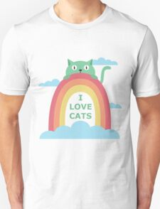 I love cats! Unisex T-Shirt