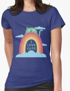I love cats! Womens Fitted T-Shirt