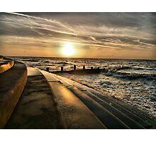 Golden Sunset - Cleveleys . Photographic Print