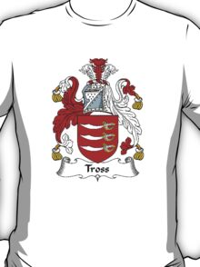 Coat of arms (family crest) for last-name or surname Tross . Heraldry banner for your name. T-Shirt