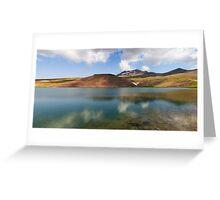 Lake Kari at mount Aragats in Armenia Greeting Card