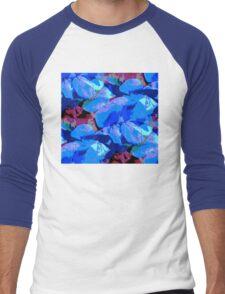 Blue Geranium Men's Baseball ¾ T-Shirt