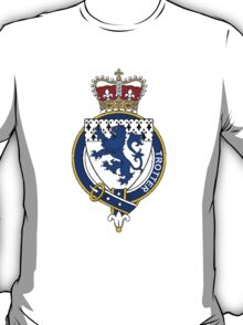 Coat of arms (family crest) for last-name or surname Trotter (England) . Heraldry banner for your name. T-Shirt