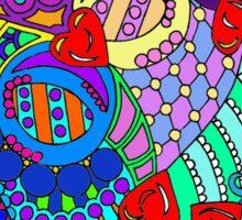 rainbow mural  Sticker
