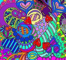 rainbow mural  by mellielee