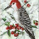 Winter Woodpecker by Pamela Plante