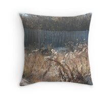 Goldenrod at Narragansett Beach Throw Pillow