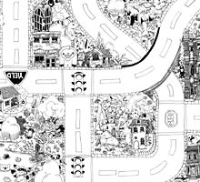 Doodle Map B by WyldTrees