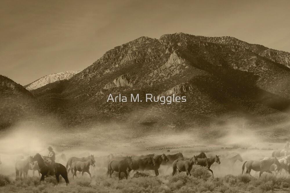 Bringin' 'em Home (sepia) by Arla M. Ruggles
