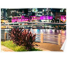 View of Brisbane City at night Poster