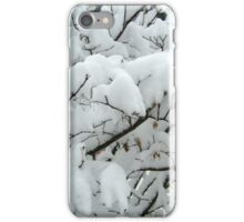 Tiny Branches Covered In Snow iPhone Case/Skin