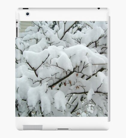 Tiny Branches Covered In Snow iPad Case/Skin