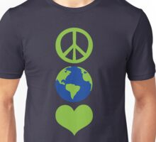 Peace love Earth Unisex T-Shirt