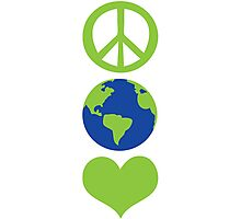 Peace love Earth Photographic Print