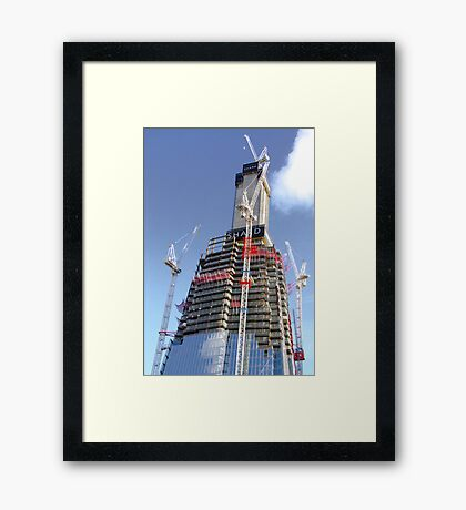 Crane Driver Anyone ?? - The Shard London Bridge Framed Print