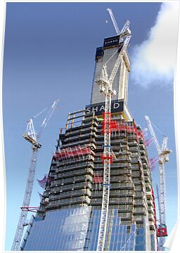 Crane Driver Anyone ?? - The Shard London Bridge by Colin J Williams Photography