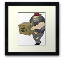 Rick and Morty: Criminal Not Carrying Box of Drugs Framed Print