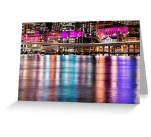 View of Brisbane City at night Greeting Card
